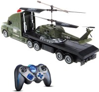 Toynation 3.5 Channel Helicopter Truck Combo (Green)