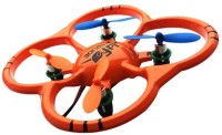 Saffire 6 Axis Gyro 4Ch Intruder UFO Drone With Led Lights (Orange)