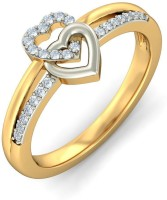 BlueStone The Art Of Love Yellow Gold Diamond 18 K Ring