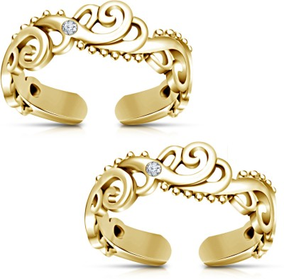 Toe Rings Designs in Gold Gold Plated Toe Ring