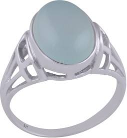 Silver Prince Designer Silver Chalcedony Ring