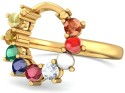 BlueStone The Aaditya Nav Yellow Gold Diamond Ring