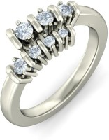 BlueStone The Tranquil Journey White Gold Diamond 18 K Ring