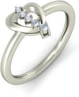 BlueStone The Adored Togetherness White Gold Diamond 18 K Ring