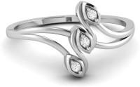 Ciemme 0.03 CT Fancy 3-Stone Split Shank Women's Promise White Gold Diamond 18 K Ring