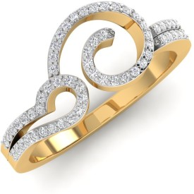 Caratify Afienia Yellow Gold Diamond 14K Yellow Gold 14 K Ring