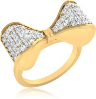 IskiUski Bow Twist Sterling Silver Yellow Gold Plated Ring