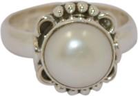 Manirathnum Manirathnum Pearl Gemstone Silver Ring Sterling Silver Pearl Brass Ring