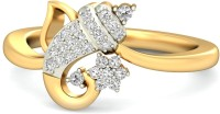 WearYourShine By PCJ The Brilliant Ganesha Gold Diamond 18 K Ring