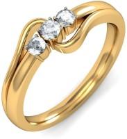 BlueStone The Trinity Yellow Gold Diamond 14 K Ring