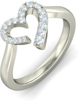 BlueStone The Innocent Love White Gold Diamond 14 K Ring