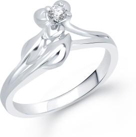 VK Jewels Alloy Cubic Zirconia Rhodium Ring