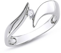 AG Jewellery Real Diamond Fashion SR0212 Sterling Silver Diamond Silver Ring