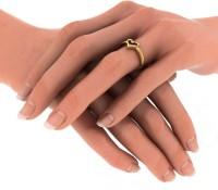 BlueStone The Herze Yellow Gold Diamond 14 K Ring