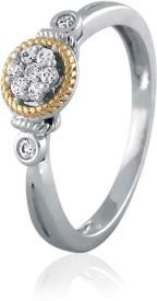 VelvetCase Diamond Accent Miligrain White Gold 18 K Ring
