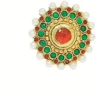 Zaveri Pearls Classical Indian Bollywood Finger Alloy Pearl Ring