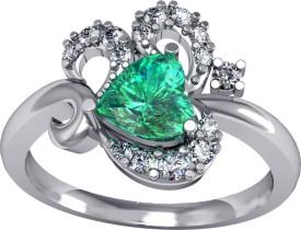 Suvam Jewels Rossy Sterling Silver Zircon Rhodium Ring
