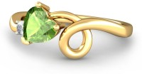 BlueStone The Carysa Yellow Gold Diamond, Peridot 14K Yellow Gold Plated 14 K Ring