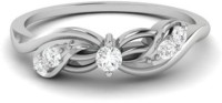 Vijisan 0.17 Ct. Promise Of Forever Love Ladies Sterling Silver Cubic Zirconia 18K White Gold Ring