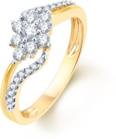 Karatcraft Fashion Flow Yellow Gold Diamond 18 K Ring