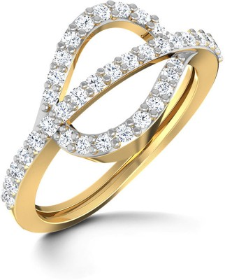 CaratLane Studded Phi Gold Diamond Ring