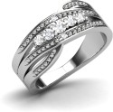 CaratLane Zephyra Silver Diamond Ring