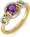 BlueStone The Eternal Symphony Gold Amethyst Ring