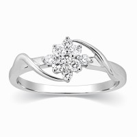 Kama Jewellery Rosetta Diamond Engagement Platinum Ring Platinum Diamond Ring