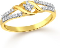 Classic Gift Gold Plated Ring For Women Size16 [CJ1087FRG16] Alloy Cubic Zirconia Yellow Gold 18 K Ring