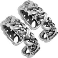 925 Silver Twisted Designer Antique Sterling Silver  K Toe Ring