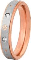 Voylla Artifictial Classic Plain Alloy Cubic Zirconia Rose Gold Plated Ring