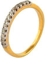 New Carat Vogue Gold Diamond Yellow Gold Plated 14 K Ring