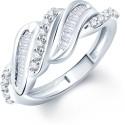 Sukkhi Wavy Alloy Cubic Zirconia Ring