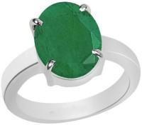11 Astro Gems 5.5 Crts Green Emrald Sapphire (Panna) Silver Emerald Ring