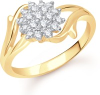 VK Jewels Flowery Dreams Alloy Cubic Zirconia 18K Yellow Gold Plated Ring