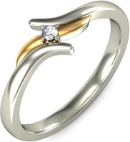 Kataria Jewellers Silver Diamond White Gold, Yellow Gold Plated Ring