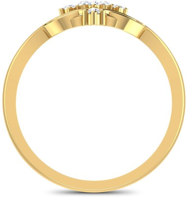 CaratLane Cluster X Gold Diamond Ring