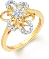 Karatcraft Petunia Set Yellow Gold Diamond 18 K Ring