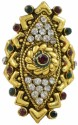 Aakshi Meenakari Diamond Metal, Alloy Ring