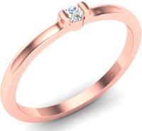Theme Jewels Theme Jewels Casual LR-0156, Certified Real Diamond & 14Kt Hallmarked Pink Gold Ring Gold Diamond 14 K Ring