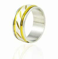 Alphaman Gentleman Extraordinaire In Spice Dual Tone Metal, Alloy Ring