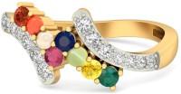 WearYourShine By PCJ The Tanishq Gold Diamond, Ruby, Emerald, Sapphire, Coral, Garnet, Cat's Eye 18 K Ring