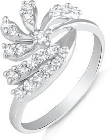 Mahi Splendid Alloy Cubic Zirconia Rhodium Ring