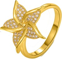 Kaizer Jewelry Alloy Cubic Zirconia 18K Yellow Gold Ring