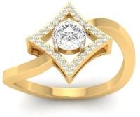 Jewels5 Eadaion Yellow Gold Diamond Rhodium Plated 18 K Ring