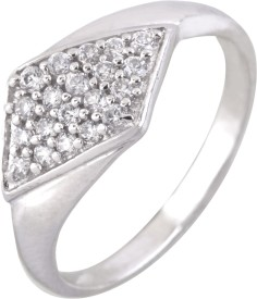 DD Pearls Ethnic Sterling Silver Cubic Zirconia Ring