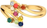 WearYourShine By PCJ The Tamayo 18kt Diamond, Ruby, Emerald, Sapphire, Coral, Garnet, Cat's Eye Yellow Gold Ring