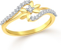 Classic Star Gold Plated Ring For Women Size8 [CJ1083FRG8] Alloy Cubic Zirconia Yellow Gold 18 K Ring
