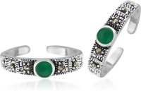 Peora Oxidised Marcasite Sterling Silver Toe Ring