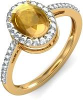 BlueStone The Solaris Gold Citrine, Diamond 18 K Ring